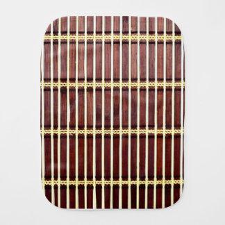 bamboo mat texture burp cloth