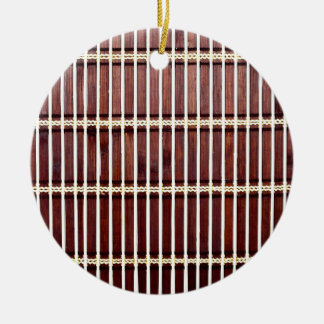 bamboo mat texture ceramic ornament