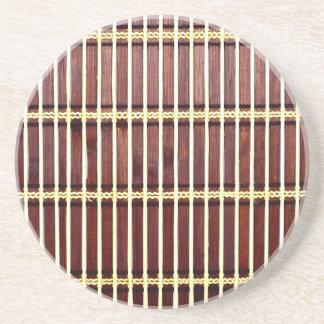bamboo mat texture coaster