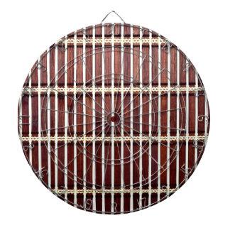 bamboo mat texture dartboard