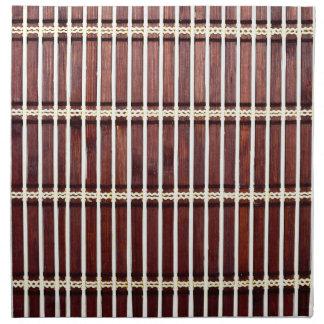 bamboo mat texture napkin