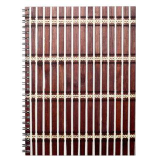 bamboo mat texture notebook