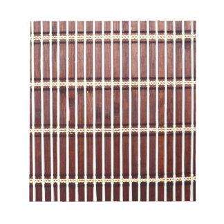 bamboo mat texture notepad