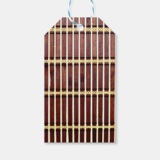 bamboo mat texture pack of gift tags