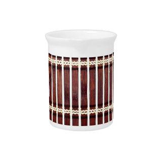 bamboo mat texture pitcher