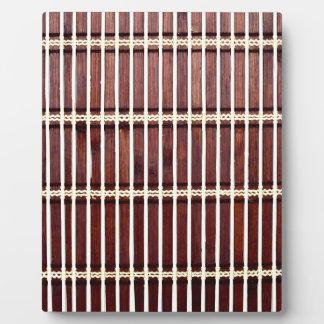 bamboo mat texture plaque