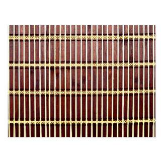 bamboo mat texture postcard