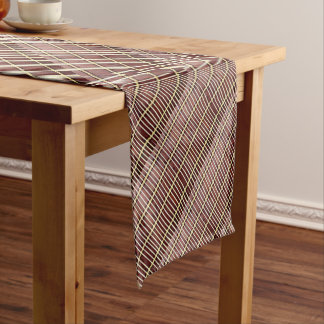 bamboo mat texture short table runner