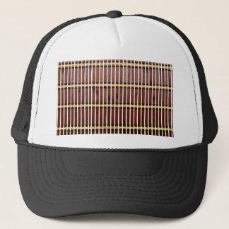 bamboo mat texture trucker hat