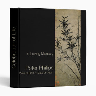 Bamboo Memorial Guest Book Binder