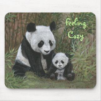 Bamboo Nest Panda Bear mousepad Feeling Cozy