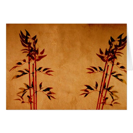 Bamboo on Parchment Card