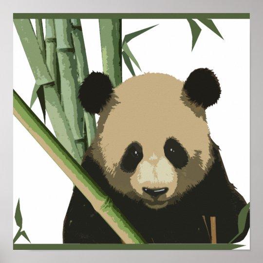 Bamboo Panda Poster