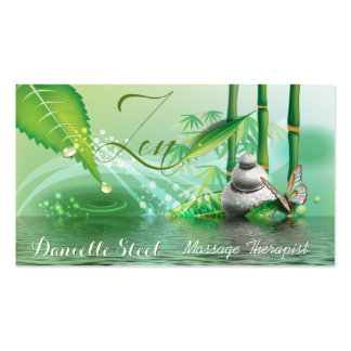 Bamboo Pond Zen Therapist Business Card