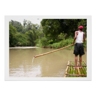Bamboo Rafting Great River Jamaica Poster