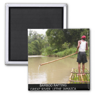 Bamboo Rafting Great River Lethe Jamaica Magnet