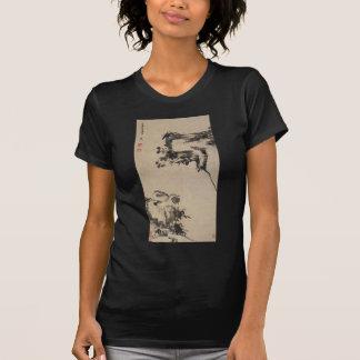 Bamboo, Rock, and Mandarin Ducks by Bada Shanren T-Shirt