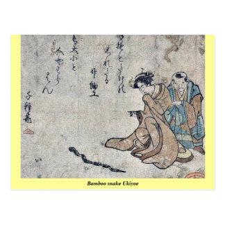 Bamboo snake Ukiyoe Postcard