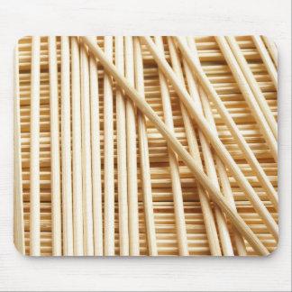 Bamboo sticks mouse pad