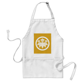 Bamboo-style gentian in circle standard apron
