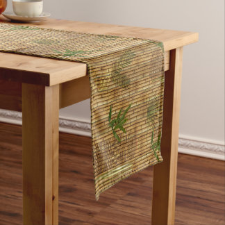 Bamboo Tapa Cloth Short Table Runner