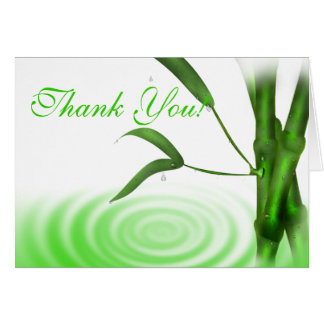 Bamboo Thank You Card
