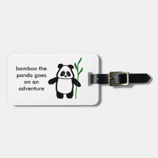 Bamboo the Panda Adventure Luggage Tag
