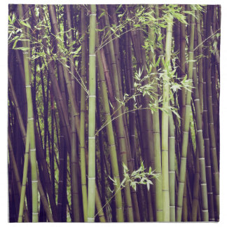 Bamboo trees napkin