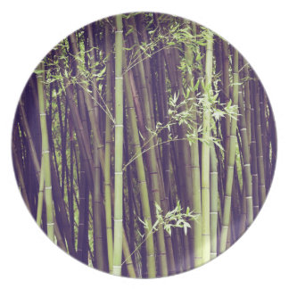 Bamboo trees plate