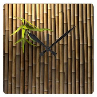 Bamboo Wall Wall Clock