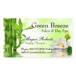 Bamboo Water Lotus Spa Skin Care Massage Salon Business Card Template