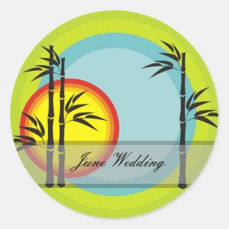 Bamboo Wedding Stickers