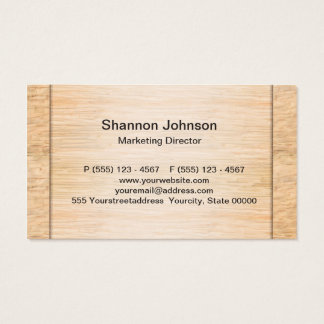 Bamboo Wood Background Business Card