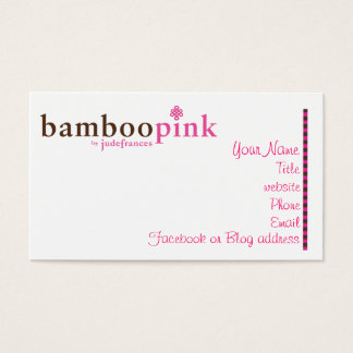 Bamboopink Business Card
