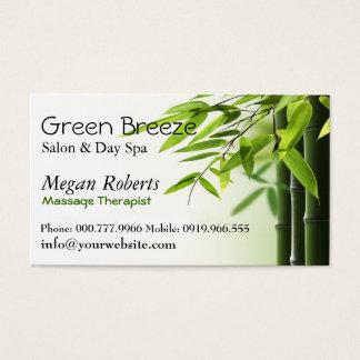 Bamboos Spa Skin Care Massage Salon Reiki Business Card