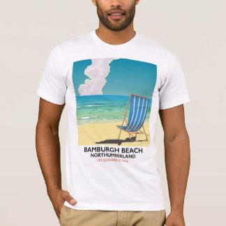 Bamburgh Beach Northumberland train poster T-Shirt