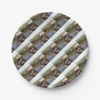 Bamburgh Castle, Northumberland, England Paper Plate
