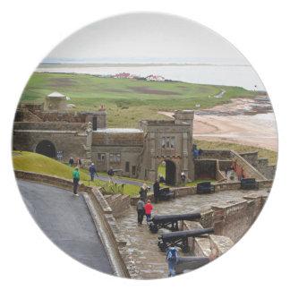 Bamburgh Castle, Northumberland, England Plate