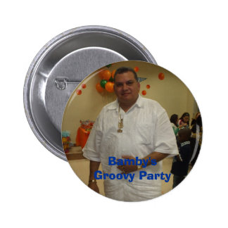 Bamby's Groovy Party 2 Inch Round Button