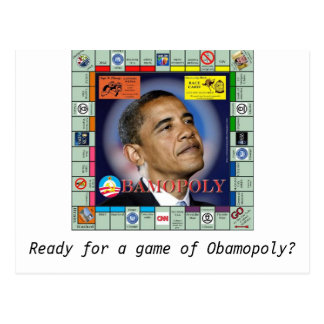 bamopoly, Ready for a game of Obamopoly? Postcard