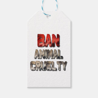 Ban Animal Cruelty Gift Tags Pack Of Gift Tags
