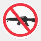 Ban Assault Weapons Classic Round Sticker