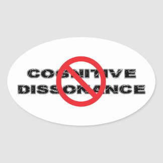 Ban Cognitive Dissonance Oval Sticker