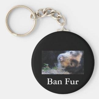Ban Fur Keychain