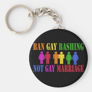 Ban Gay Bashing Keychains