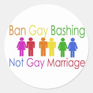 Ban Gay Bashing Sticker