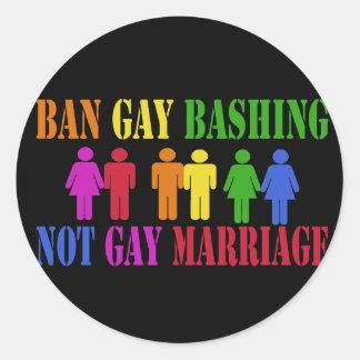 Ban Gay Bashing Stickers