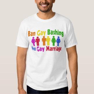 Ban Gay Bashing Tee Shirts