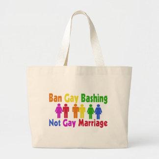 Ban Gay Bashing Tote Bag