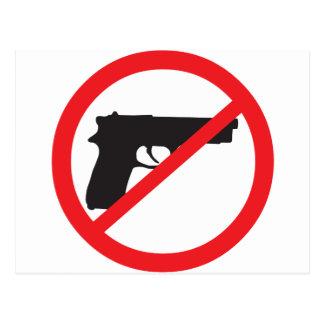 Ban Guns Anti-Gun Pacifist Post Card